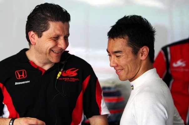 physiotherapist Alfredo Dente and Takuma Sato F1, Honda