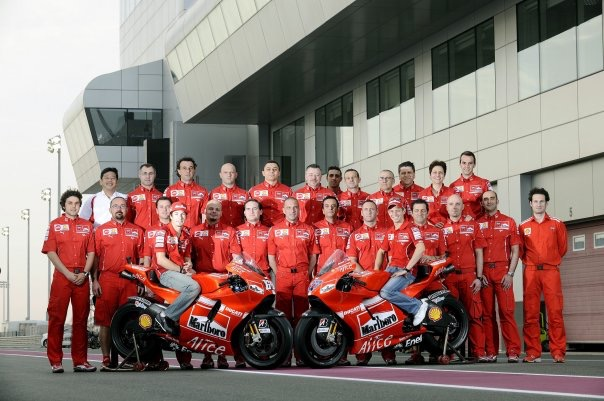 Casey Stoner and his physiotherapist Alfredo Dente, Ducati MotoGP Team