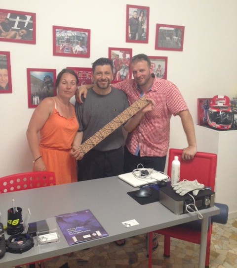 Alfredo with Patrick and Clare Pedersen, Dynamic Tape